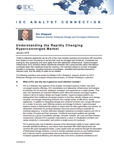 IDC Report: Understanding the Rapidly Changing Hyperconverged Market