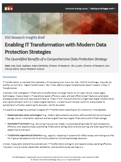 Enabling IT Transformation with Modern Data Protection Strategies