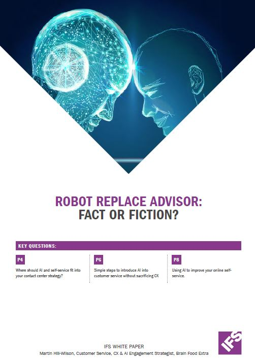 Robots replace advisor: Fact or Fiction?