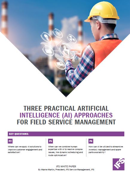 Three practical Artificial Intelligence (AI) approaches for field service management