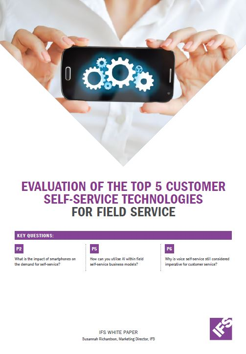 Evaluation of the TOP 5 customer self-service technologies for field service