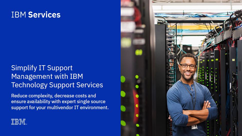 Simplify IT support management with IBM Technology Support Services