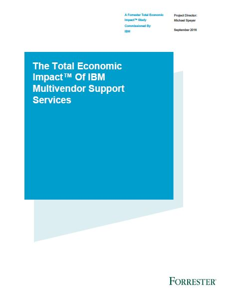 The Total Economic Impact™ of IBM Multivendor Support Services