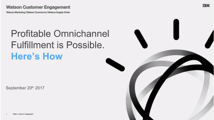 Profitable Omnichannel Fulfillment is Possible