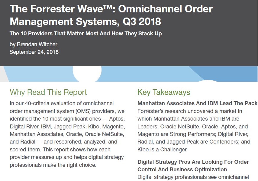 The Forrester Wave™: Omnichannel Order Management Systems