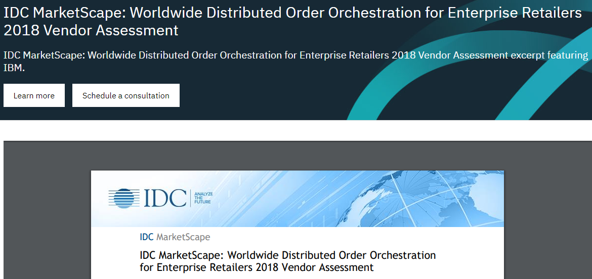 IDC MarketScape: Worldwide Distributed Order Orchestration for Enterprise Retailers