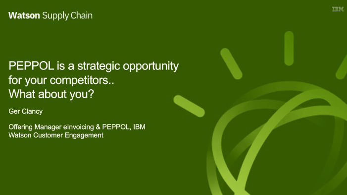 PEPPOL is a strategic opportunity for your competitors