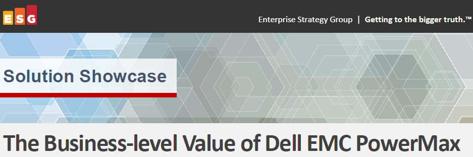 The business-level value of Dell EMC PowerMax