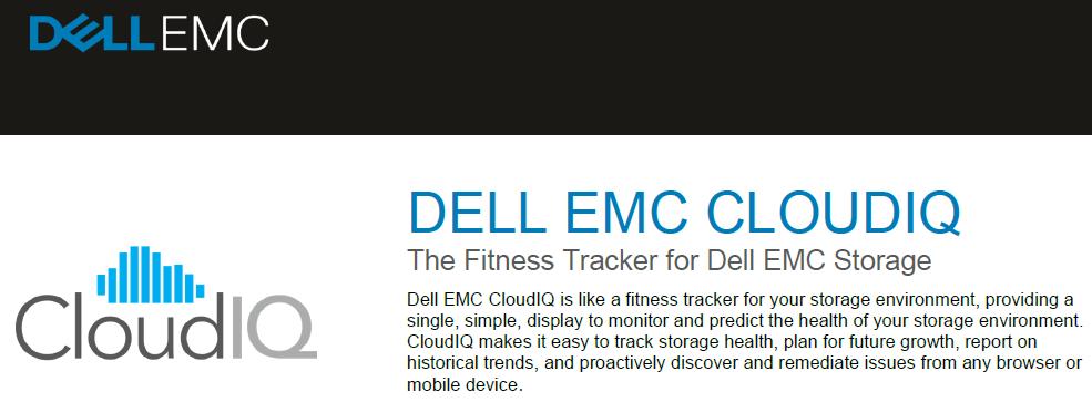 Dell EMC CloudIQ