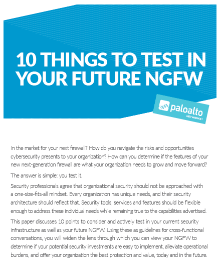 10 Things to test in your future NGFW
