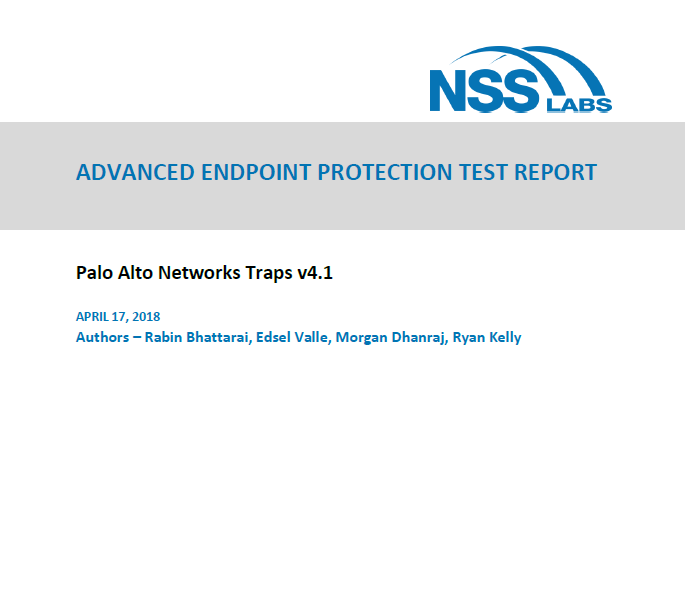 2018 NSS Labs advanced endpoint protection report