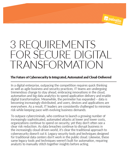 3 Requirements for secure Digital Transformation