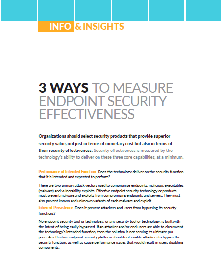 3 Ways to measure endpoint Security effectiveness