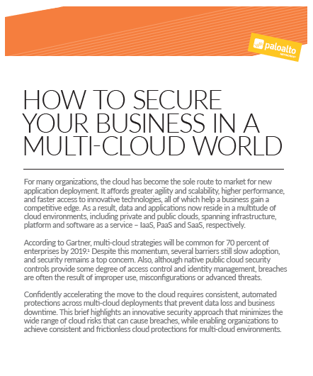 How to secure your business in a Multi-Cloud world