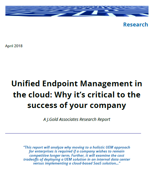 Unified Endpoint Management in the cloud: Why it's critical to the success of your company