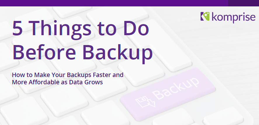 5 Things to do before backup