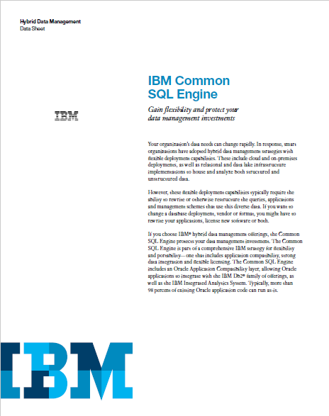 IBM Common SQL Engine