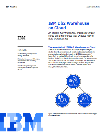 IBM Db2 Warehouse on Cloud