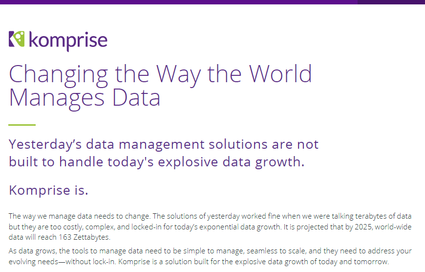 Changing the way the world manages data