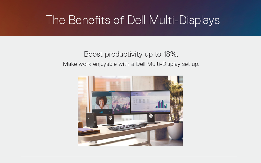The Benefits of Dell Multi-Displays