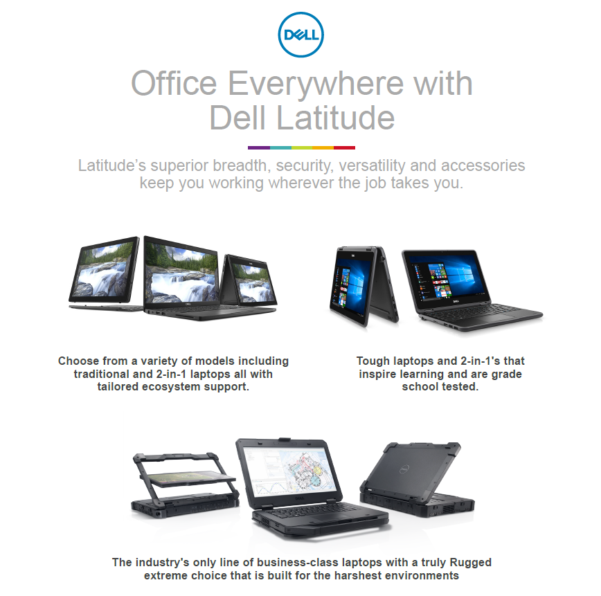 Office everywhere with Dell latitude