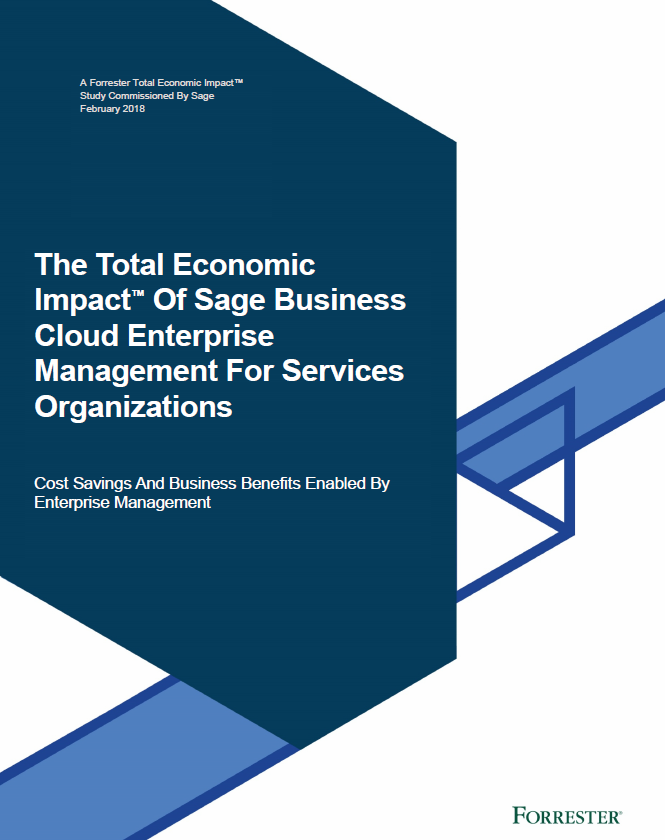 The Forrester TEI Study of Sage Enterprise Management