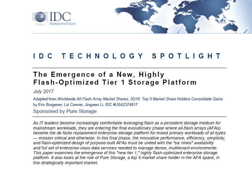 The emergence of a new, highly flash-Optimized tier 1 storage platform