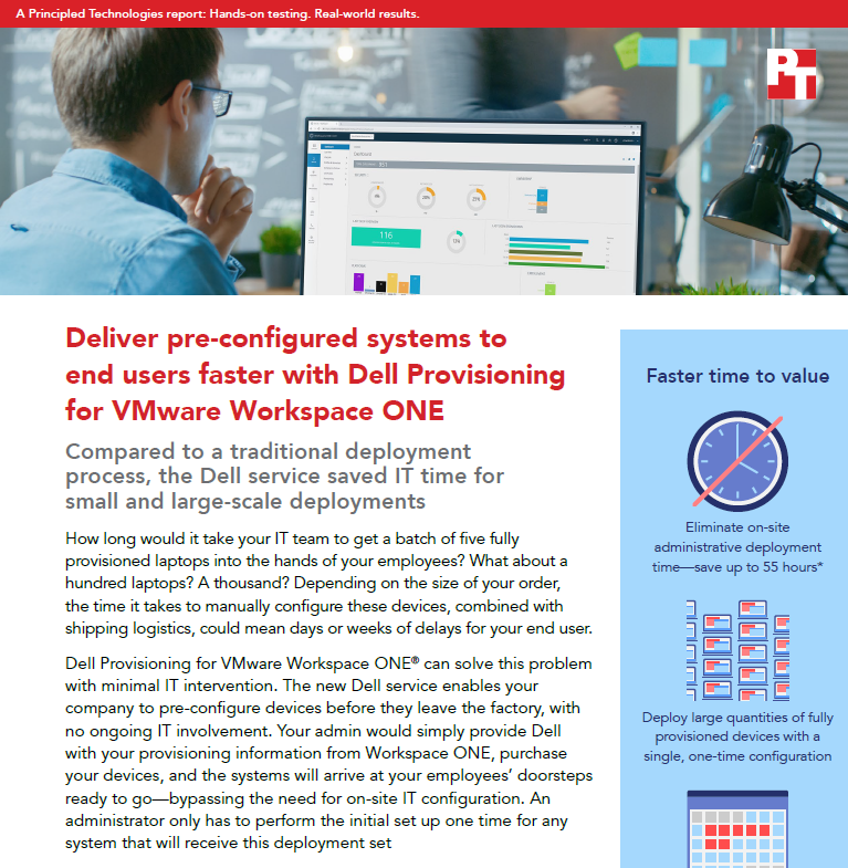 Deliver pre-configured systems to end users faster with Dell Provisioning for VMware Workspace ONE