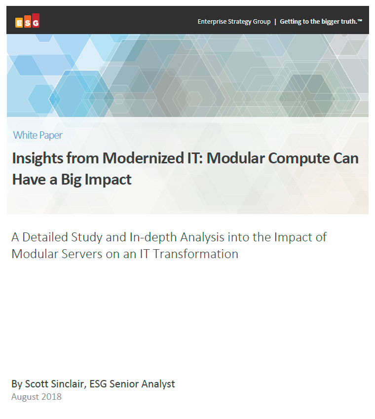ESG-The Impact of modular compute
