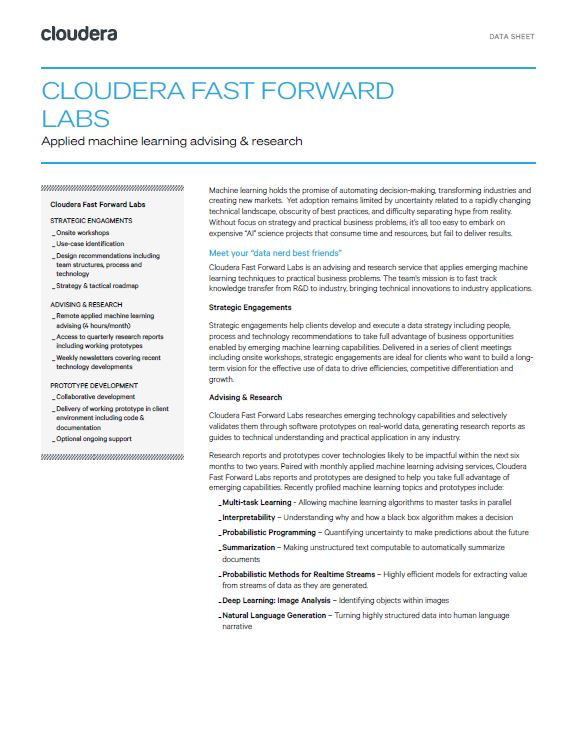 Cloudera Fast Forward Labs