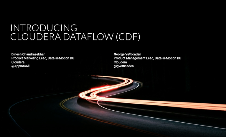 Introducing Cloudera DataFlow