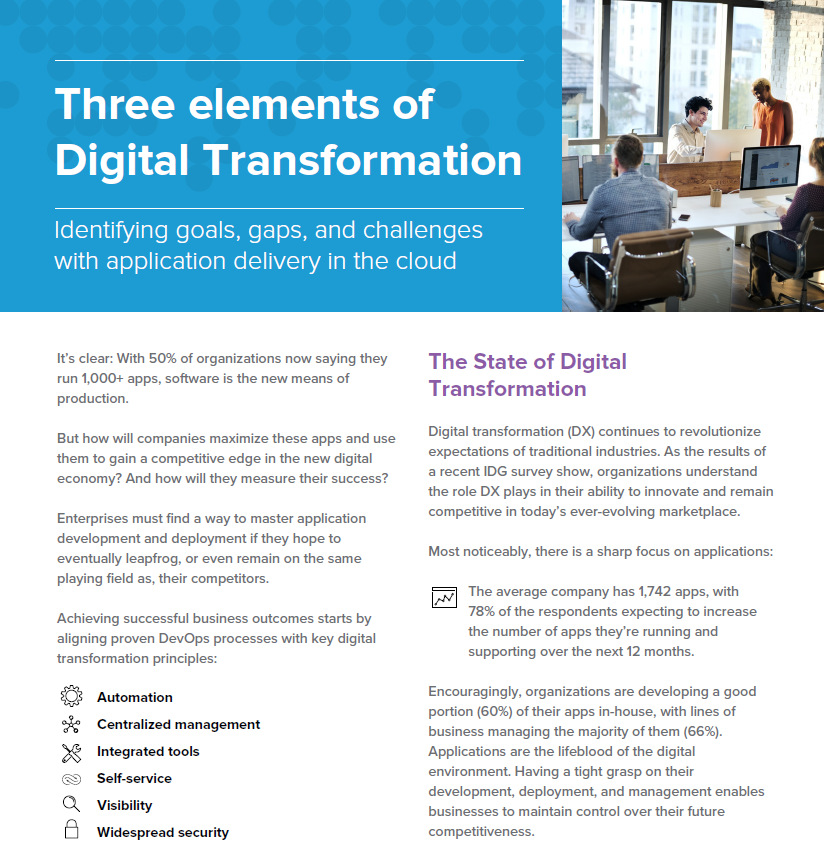 Three elements of digital transformation