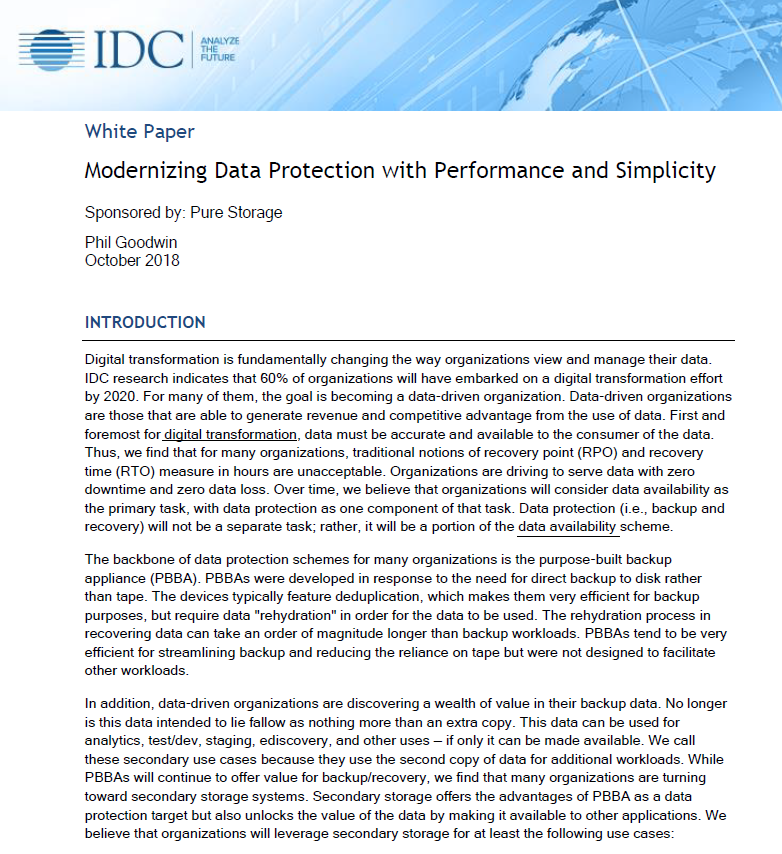 Modernizing data protection with performance and simplicity