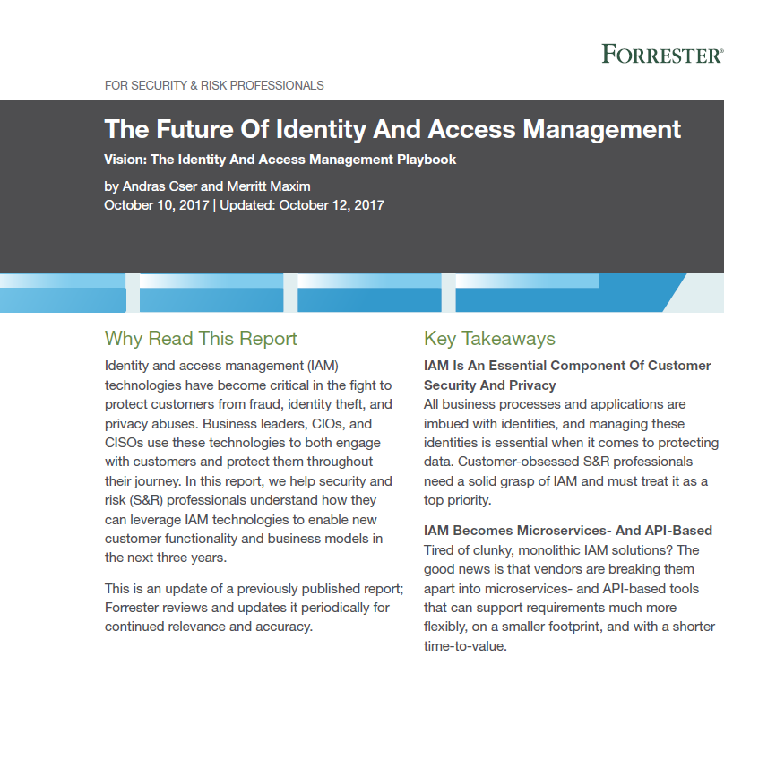 The future of Identity and access management