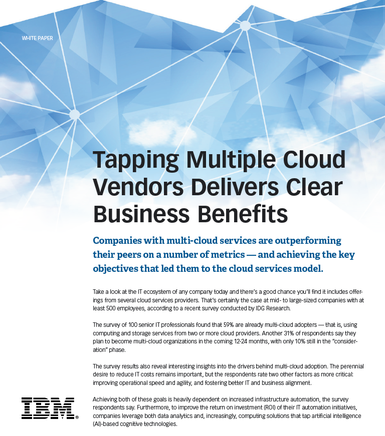 Tapping multiple cloud vendors delivers clear business benefits