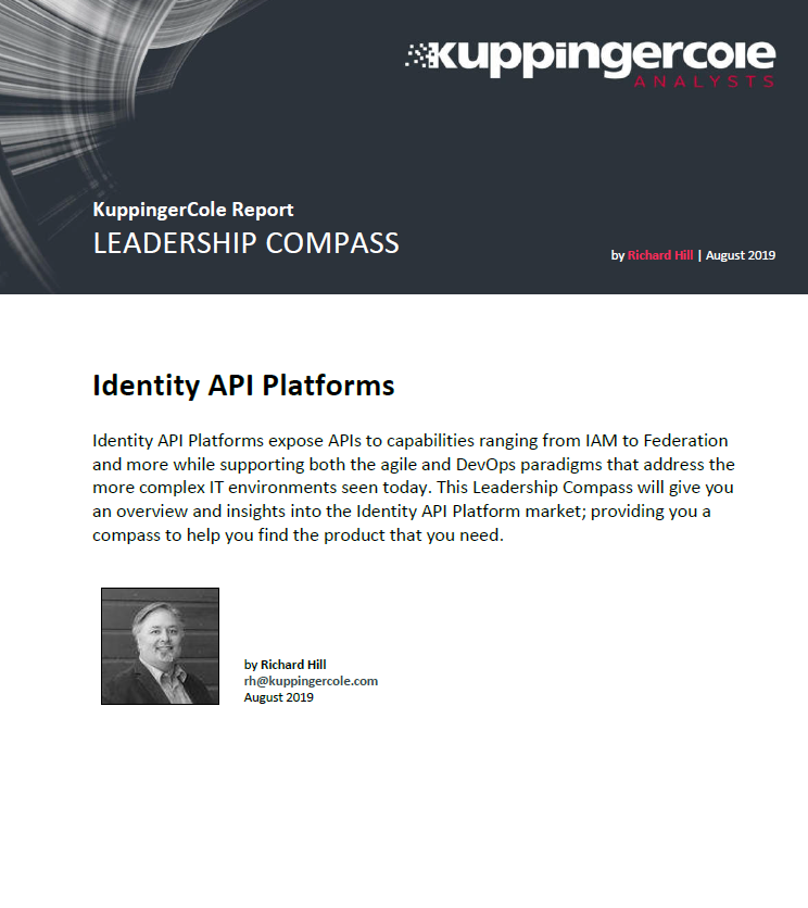 KuppingerCole report leadership compass for Identity API platforms