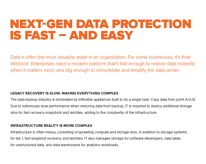 Next-gen data protection is fast – and easy