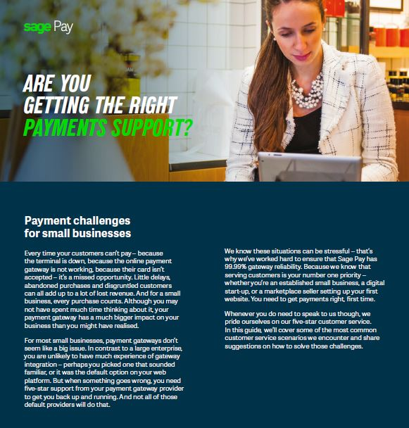 Are you getting the right payments support?