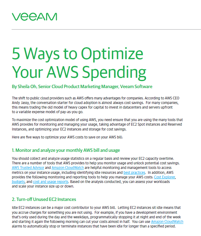 5 Ways to Optimize Your AWS Spending