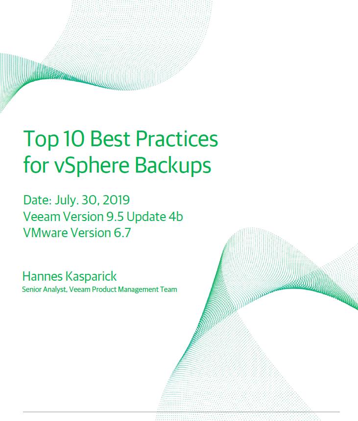 Top 10 Best Practices for vSphere Backups