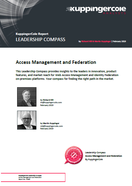KuppingerCole leadership compass: Access management & Federation 2019