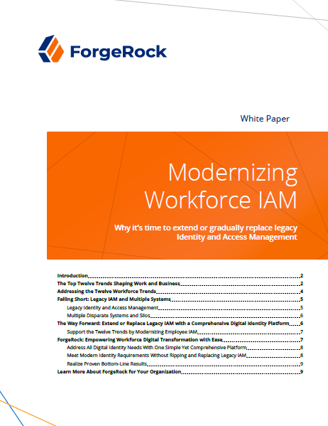 Modernizing Workforce IAM