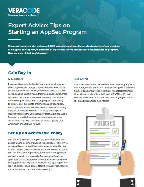 Expert Advice: Tips on Starting an AppSec Program