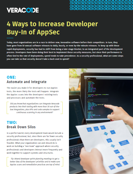 4 Ways to Increase Developer Buy-In of AppSec