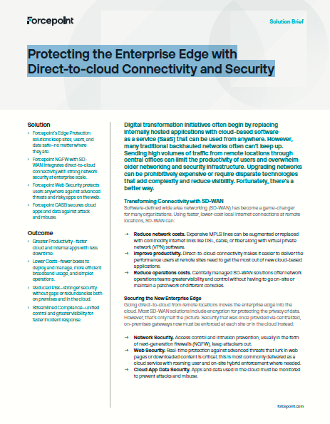 Protecting the Enterprise Edge with Direct-to-cloud Connectivity and Security All Clouds Are Not Equal