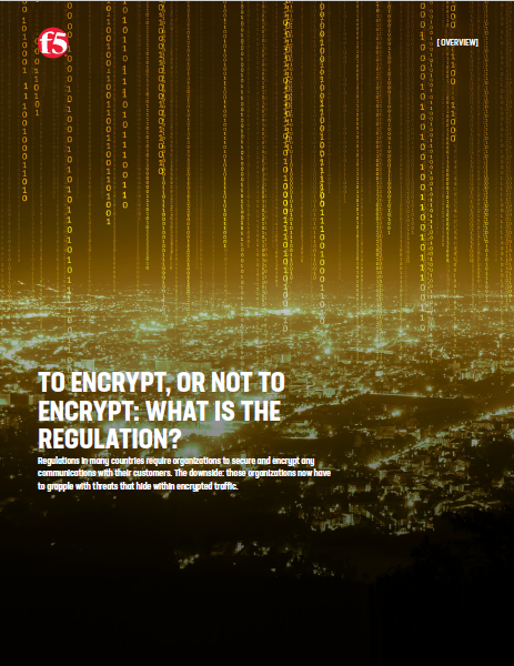 TO ENCRYPT, OR NOT TO ENCRYPT: WHAT IS THE REGULATION?