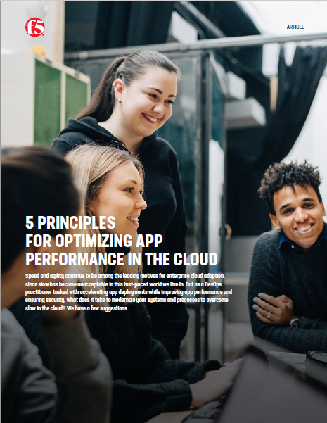 5 Principles for optimizing App performance in the cloud