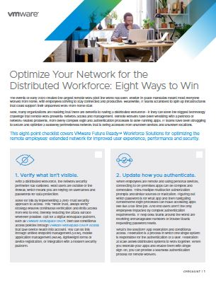 Optimize Your Network for the Distributed Workforce: Eight Ways to Win