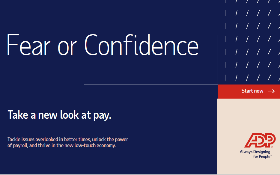 Fear or Confidence. Take a new look at pay