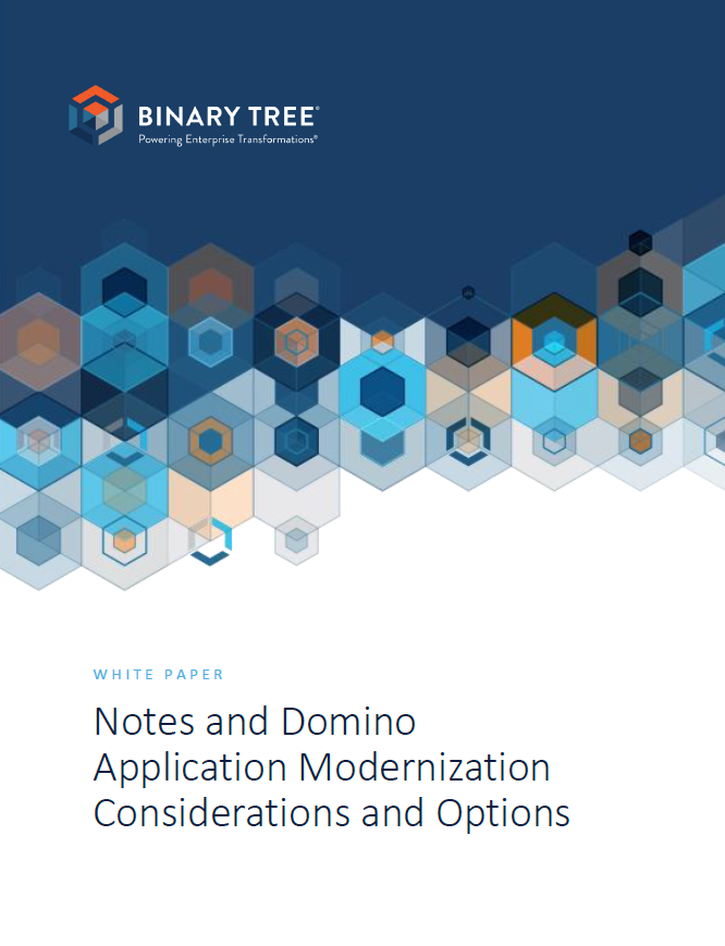 Notes and Domino Application Modernization Considerations and Options